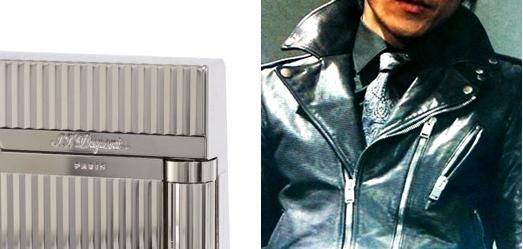 タッちゃん(小栗旬さん)ドラマ着用衣装「ウロボロス」銀ライター・黒ライダースジャケット