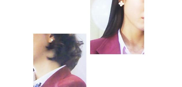 プラチナ8女子アクセサリー、南(石橋杏奈さん) エミリー(吉倉あおいさん)ドラマ衣装メモ「学校のカイダン」