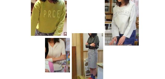 七菜(有森架純さん)ドラマ着用衣装メモ1話その2「ようこそ、わが家へ」ロゴトップス・パーカー・スカート