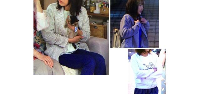 七菜(有森架純さん)ドラマ着用衣装メモ2話ジャケットなど「ようこそ、わが家へ」女子大生カジュアルファッション