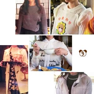 ミチコ(深田恭子さん)着用衣装【フリルやロゴニット・柄ワンピなど】ダメな私に恋してください、3話