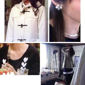 ミチコ(深田恭子さん)着用衣装【白ダッフルコート・結婚式アクセなど】ダメな私に恋してください、2話