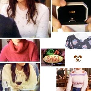 ミチコ(深田恭子さん)着用衣装【ニットいろいろ・指輪など】ダメな私に恋してください、6話