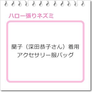 蘭子(深田恭子さん)「ハロー張りネズミ」着用アクセサリー服バッグ