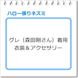 グレ(森田剛さん)着用「ハロー張りネズミ」衣装&アクセサリー